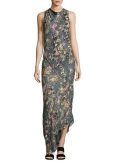Haute Hippie Cecilia Floral Print Silk Maxi Dress