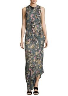 Haute Hippie Cecilia Floral Print Silk Maxi Dress