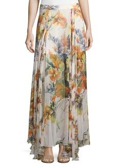 Haute Hippie Chance Floral-Print Silk Maxi Skirt