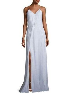 Haute Hippie Clara Sleeveless Stripe Cotton Gown