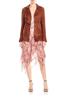 Haute Hippie Criminal Fringed Western Leather Jacket