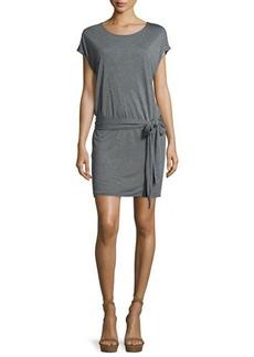 Haute Hippie Draped Open-Back Jersey Mini Dress