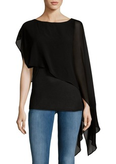 Haute Hippie Draped Sleeveless Tee
