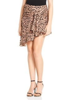 Haute Hippie Edith Faux-Wrap Skirt
