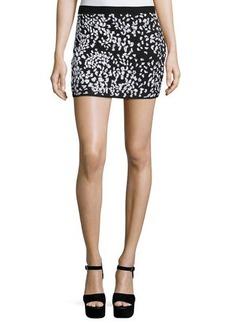 Haute Hippie Embellished Cheetah Mini Skirt