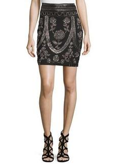 Haute Hippie Embellished Pencil Skirt