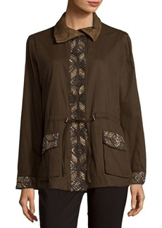 Haute Hippie Embroidered Eagle Long-Sleeve Jacket