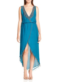 Haute Hippie Falcon Embellished Silk Dress