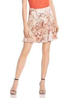 Haute Hippie Faye Printed Silk A-Line Skirt