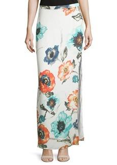 Haute Hippie Floral-Print Column Maxi Skirt