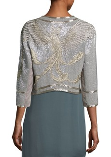 Haute Hippie Fly High Sequined Open Front Jacket