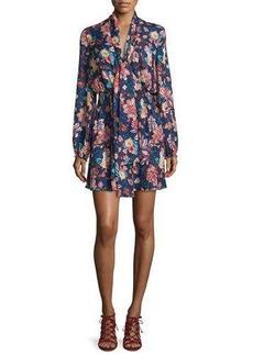 Haute Hippie Free Love Floral Silk Mini Dress