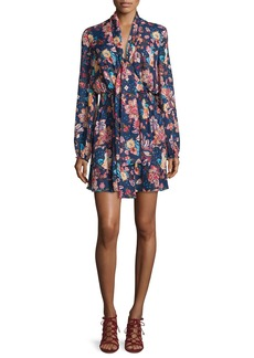 Haute Hippie Free Love Floral Silk Mini Dress