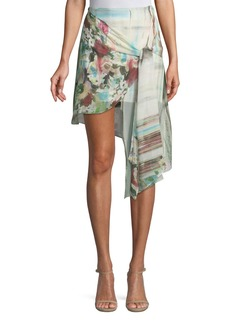 Haute Hippie French Riviera Printed Wrap Mini Skirt