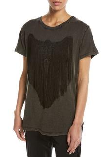 Haute Hippie Fringe Longhorn T-Shirt