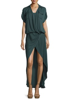 Haute Hippie From the Ashes Silk Faux-Wrap Dress