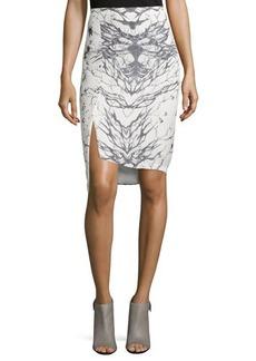 Haute Hippie Front-Slit Pencil Skirt
