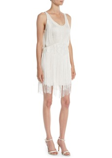 Haute Hippie Grandeur Fringe Mini Cocktail Dress