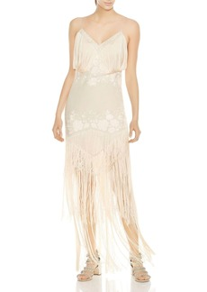Haute Hippie Grandeur Fringed Embroidered Gown