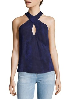 Haute Hippie Halterneck Silk Top