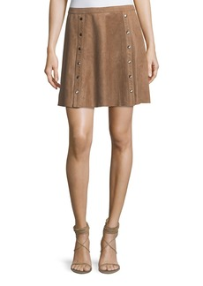 Haute Hippie Heat Of The Sun Suede Short Skirt