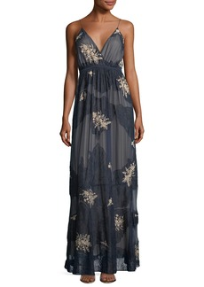 Haute Hippie In The Cards Sleeveless Silk Lace Evening Gown