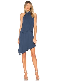Haute Hippie Katherine Tuck Dress in Blue. - size 0 (also in 2,4,6)