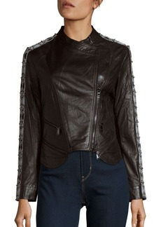 Haute Hippie Lamb Leather Jacket