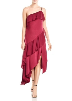 Haute Hippie Laura Asymmetric Ruffled Dress