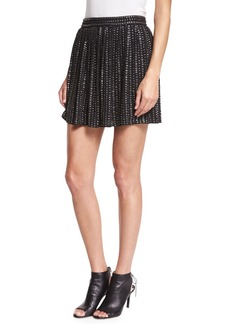 Haute Hippie Leather-Sequin Mini Skirt