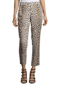 Haute Hippie Leopard-Print Cropped Pants