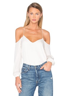 Haute Hippie Long Sleeve Cold Shoulder Blouse