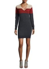 Haute Hippie Long-Sleeve Colorblock Sweaterdress