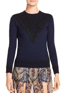 Haute Hippie Lucky Stars Embellished Sweater