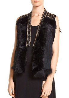 Haute Hippie Mansion Embellished Shearling Vest