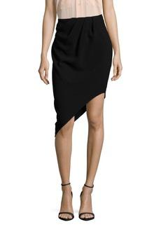 Haute Hippie Marigold Pleated Asymmetric Skirt