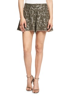 Haute Hippie Marisa Beaded Flutter Shorts