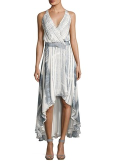 Haute Hippie Meet Me Tonight High-Low Silk Dress