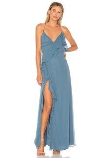 Haute Hippie Metamorphosis Wrap Dress in Blue. - size 0 (also in 2,4)