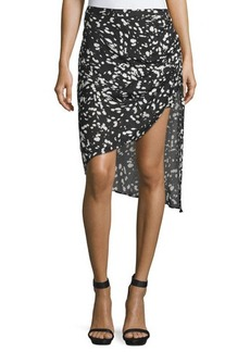 Haute Hippie Mid-Rise Asymmetric Skirt