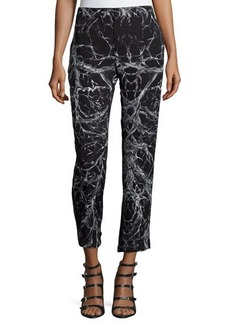 Haute Hippie Mid-Rise Cropped Trousers
