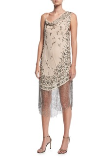 Haute Hippie Mojave Desert Asymmetric Beaded Fringe Dress