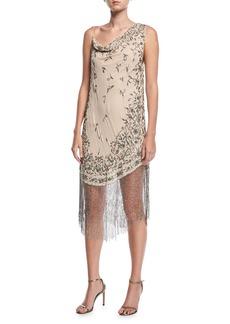 Haute Hippie Mojave Desert Asymmetric Beaded Fringe Dress