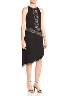 Haute Hippie Mojave Desert Asymmetric Beaded Silk Dress