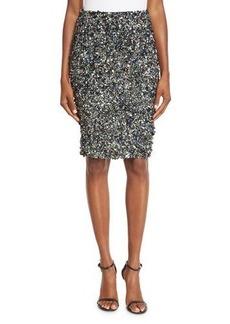 Haute Hippie Mosaic Sequin-Embellished High-Waist Skirt