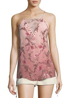 Haute Hippie No Regrets Floral-Print Silk Camisole