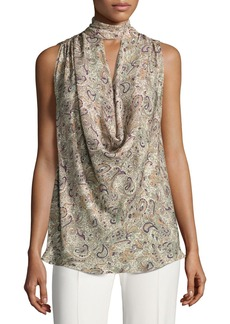 Haute Hippie Out Of Touch Sleeveless Silk Blouse