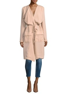 Haute Hippie Overlay Knee-Length Coat