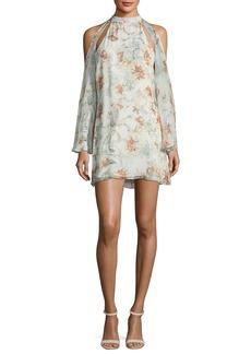 Haute Hippie Paradise Floral-Print Halter Chiffon Dress