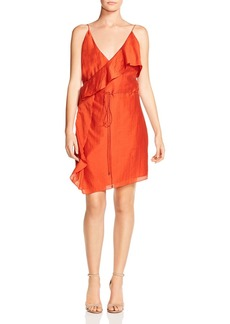 Haute Hippie Path to Destiny Asymmetric Ruffled Wrap Dress